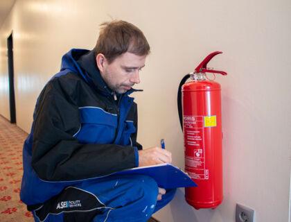 ASE Hausbetreuung - Hausmeister Service - Sicherheitskontrollen - Feuerlöscher